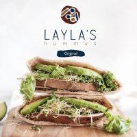 Hummus Sandwich Laylas Food Company